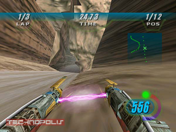 Screen z gry Star Wars Episode I: Racer
